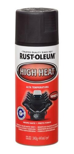 Rust-oleum Alta Temperatura Negro Resiste Hasta 1093 Grados