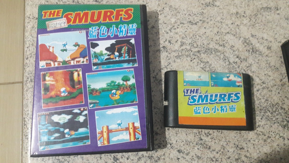 Fita Para Mega Drive The Smurfs Aventura