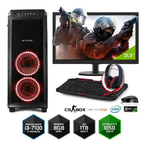 Pc Gamer Neologic Cs Box Nli7032 I3 8gb (gtx 1050)1tb+