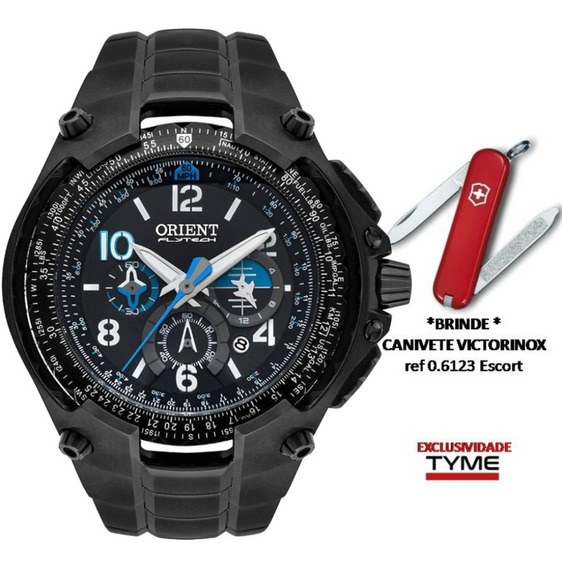 Relógio Orient Flytech Ed. Limitada 10 Anos Mpttc001 P2px Titânio Black + Brinde C/ Nfe