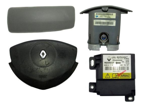 Kit Air Bag Bolsa Volante Painel Central Sandero 1.6 16v 10