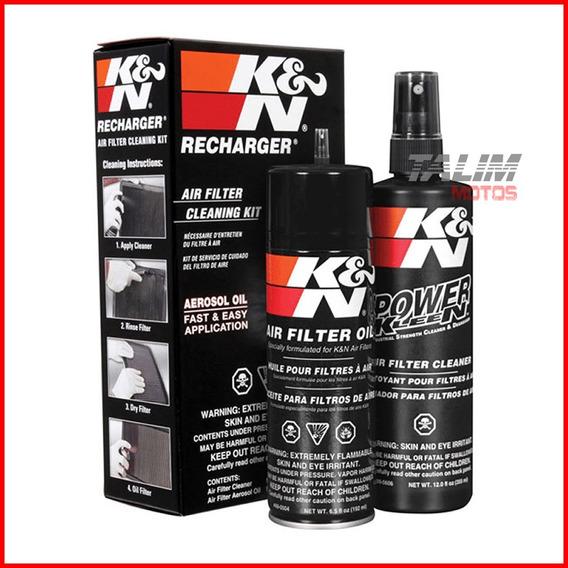 Kit Limpeza + Lubrificação Filtro Ar K&n Kn Aerosol 99-5000