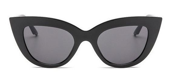 Óculos De Sol Gatinho Cat Eye Vintage Retrô Moda Tumblr