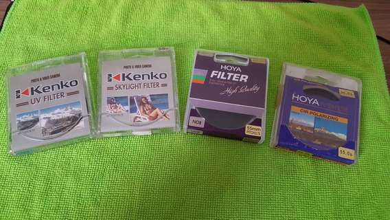 Conjunto De Filtros 55mm + Parassol
