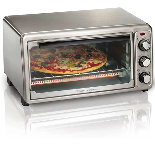 Imagen 1 de 6 de Horno Eléctrico Pizza Hasta 30cm Hamilton Beach 1440watts
