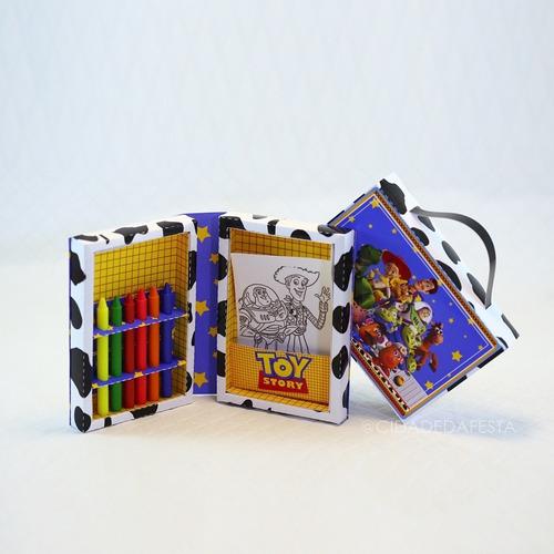 Caixinha Livro Com Kit De Colorir Toy Story