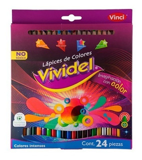 10 Colores Vividel 24 Lapices,