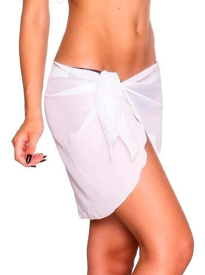 Pareo Estilo Falda De Playa Para Mujer Sexy Blanco M6221