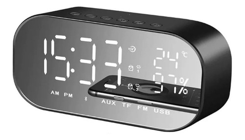Reloj Despertador Digital Con Altavoz Bluetooth Y Radio Fm
