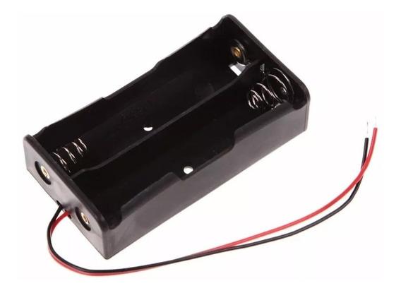 Suporte Porta 2 Baterias 18650 Pilha Alimentação Arduino