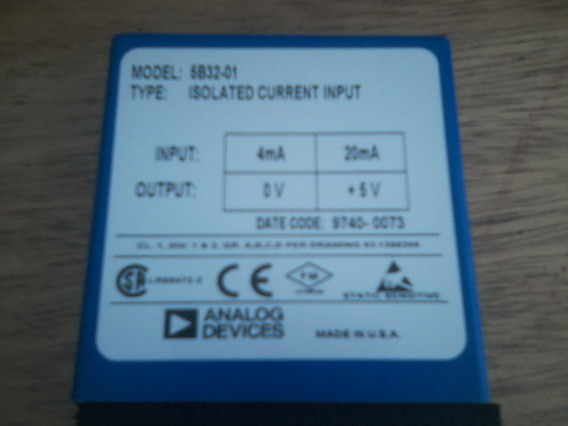 Modulo Isolador Corrente Analogico 5b32-01 Isolated Current