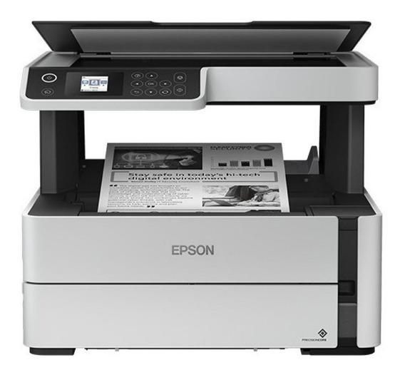 Impressora multifuncional Epson EcoTank M2170 com wifi 100V/240V branca e preta