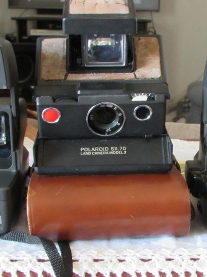 Câmera Fotográfica Polaroid Sx-70 Antiga