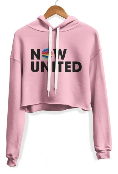 Cropped Now United Moletom Blusa Casaco Feminino Rose!!!!