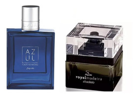 Perfumes Jequiti Cauã Raymond Azul + Royal Madeira Absoluto