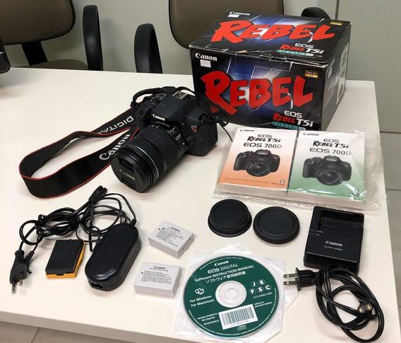 Kit Câmera Canon Eos Rebel T5i Com 18-135 Mm Stm 700d