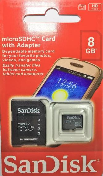 Cartao Memoria Micro Sd 8gb Lacrado Original Sandisk