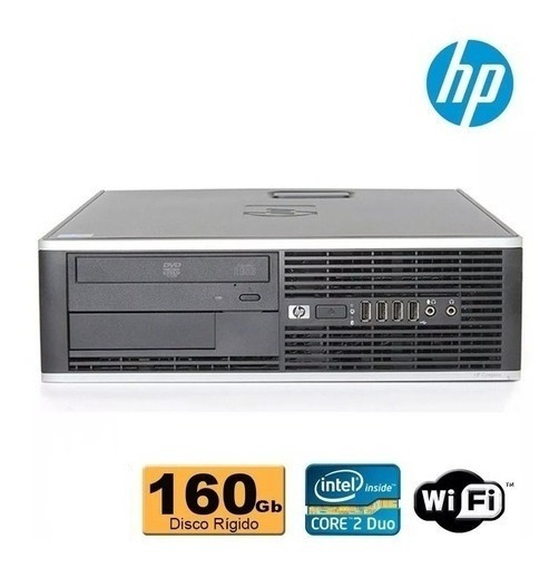 Pc Hp Elite Core 2 Duo E8200 4gb Ddr3 160gb + Monitor 17 Pol