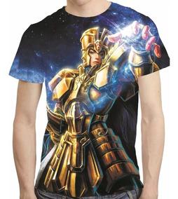 Camisa Cavaleiros Do Zodiaco Camiseta Saga Hd Estampa Total