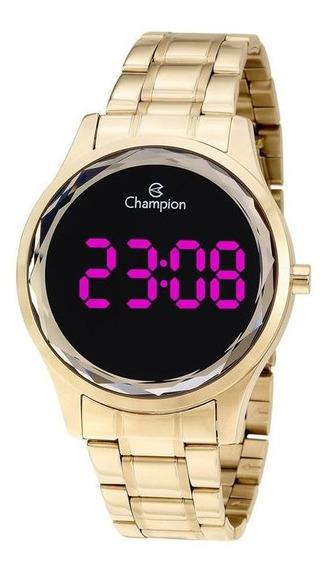 Relógio Feminino Digital Champion Dourado Ch48019h