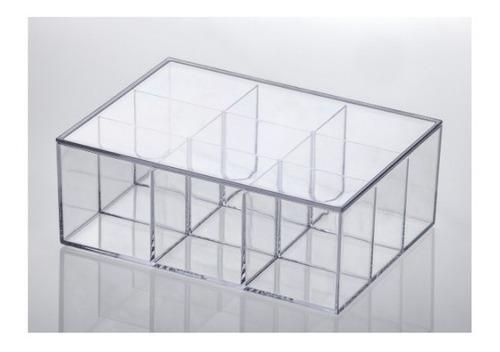 5 Caixas Organizadora Com Divisórias 22,5x16,5x8,5cm