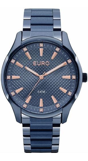Relogio Euro Feminino Euy121e6dh/4a Azul Rose Lançamento