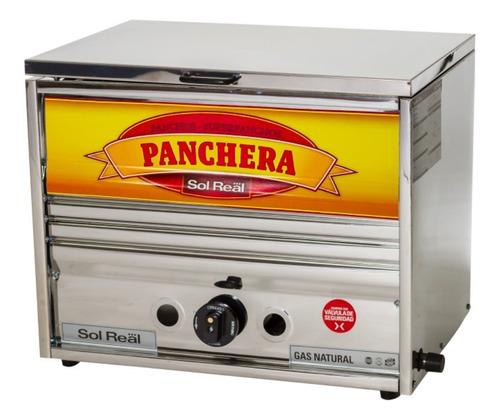 Imagen 1 de 10 de Panchera Sol Real Industrial Acero 52 Cms Con Calienta Pan