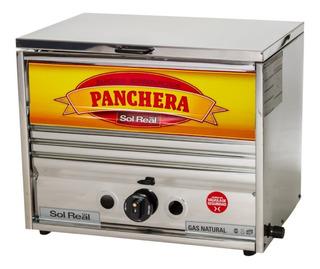 Panchera Sol Real Industrial Acero 52 Cms Con Calienta Pan