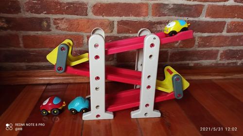 Rampa Autos Juguete - 3 Autos 3 Niveles . Niños Pequeños