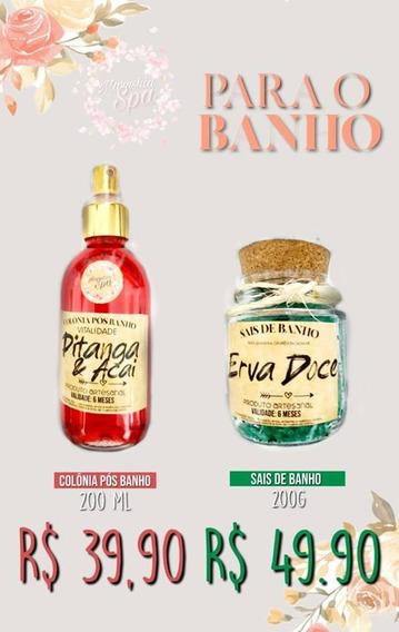 Kit Spa Banho Com Sais De Banho E Colônia