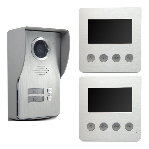 Portero Visor Color 2 Casas Video Seguridad Para Su Hogar Jv