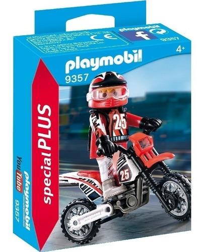 Imagen 1 de 8 de Playmobil Motocross Y Figura Jeg 9357 El Gato