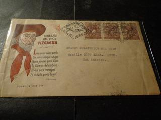 1943-1°dia Circulado N°903-a- Lima/ Perú-matasello Llegada
