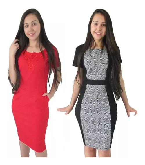 Kit 2 Vestidos Evangelicos Bengaline Tamanho G 42-44 Oferta Limitada