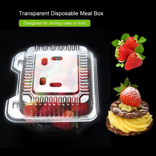para hornear alimentos y tartas de medio redondo contenedor para sacar tartas Cabilock 50 cajas de pl/ástico suizas transparentes para magdalenas y magdalenas