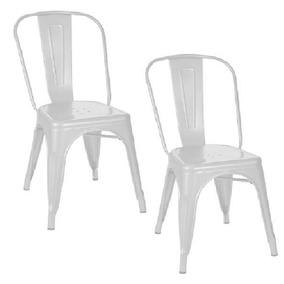 Kit 2 Cadeiras Tolix Branca