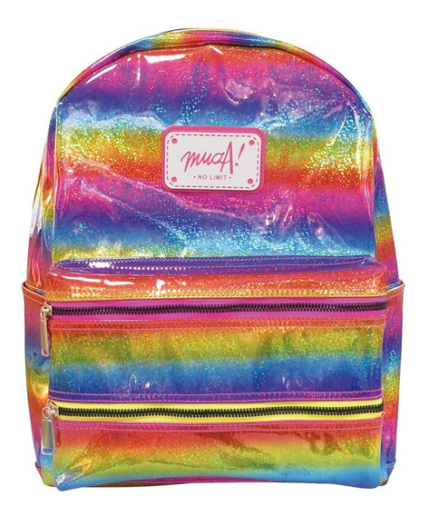 Mochila Muaa Multicolor 16 Escolar Original Ua067 Mapleweb