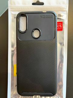 Forro Fibra De Carbono Negro Para Xiaomi Redmi Note 7 D 1 5