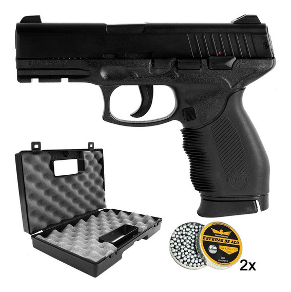 Pistola 4.5mm Taurus 24/7 Slide Metal + Maleta + 600 Esferas