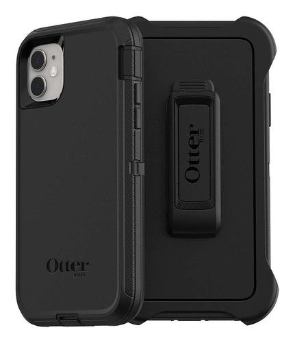 Otterbox Carcasa Defender + Vidrio iPhone 11 Negro