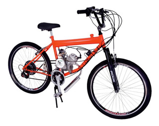 Bicicleta Motorizada 80cc Tanque Embutido Motor Emotorbike