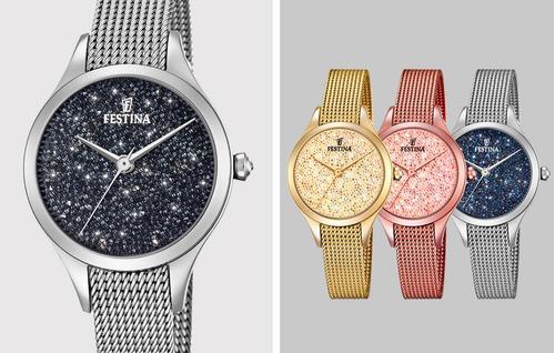 verbo bandeja Necesitar  Reloj Festina F20336.3 Cristales Swarovski Mujer Original | Mercado Libre
