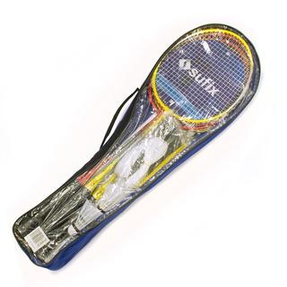 Set Badminton Adulto Completo Sufix 4 Raquetas Plumas Red