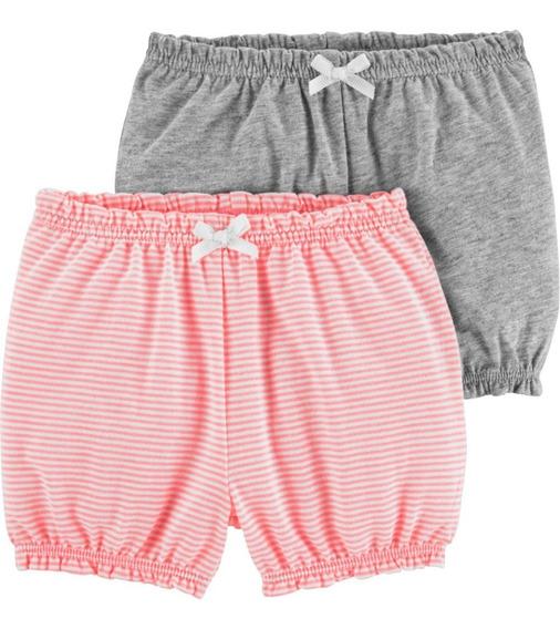 Pack 2 Pantalones Calcitas Shorts Algodón Carters Varon Nena