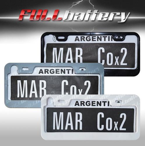 Imagen 1 de 1 de Marco De Patente Juego X2 Universal Para Auto Varios Colores