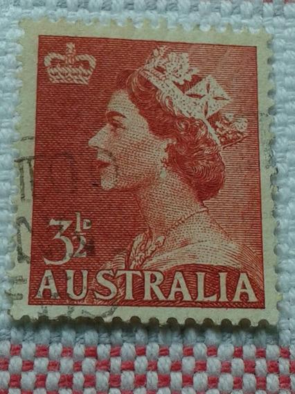 Estampilla De Australia. Reina Isabel Ii