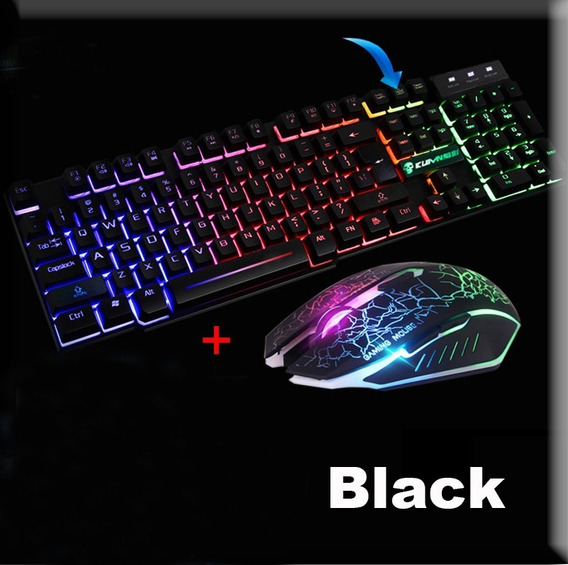 Kit Teclado E Mouse Gamer Luminoso Hmaston Km-680