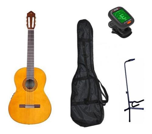 Imagen 1 de 7 de Paquete Guitarra Electroacustica Yamaha Cx40 Afinador Funda