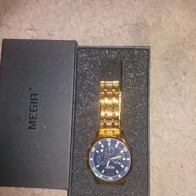 Relógios De Aço Inoxidável Dourado Masculino Megir