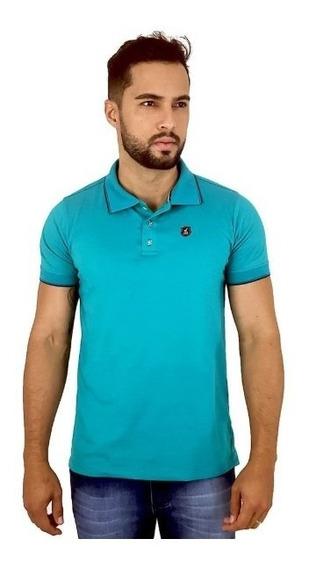 Camisa Gola Polo Masculina Básica Colorida De Algodão